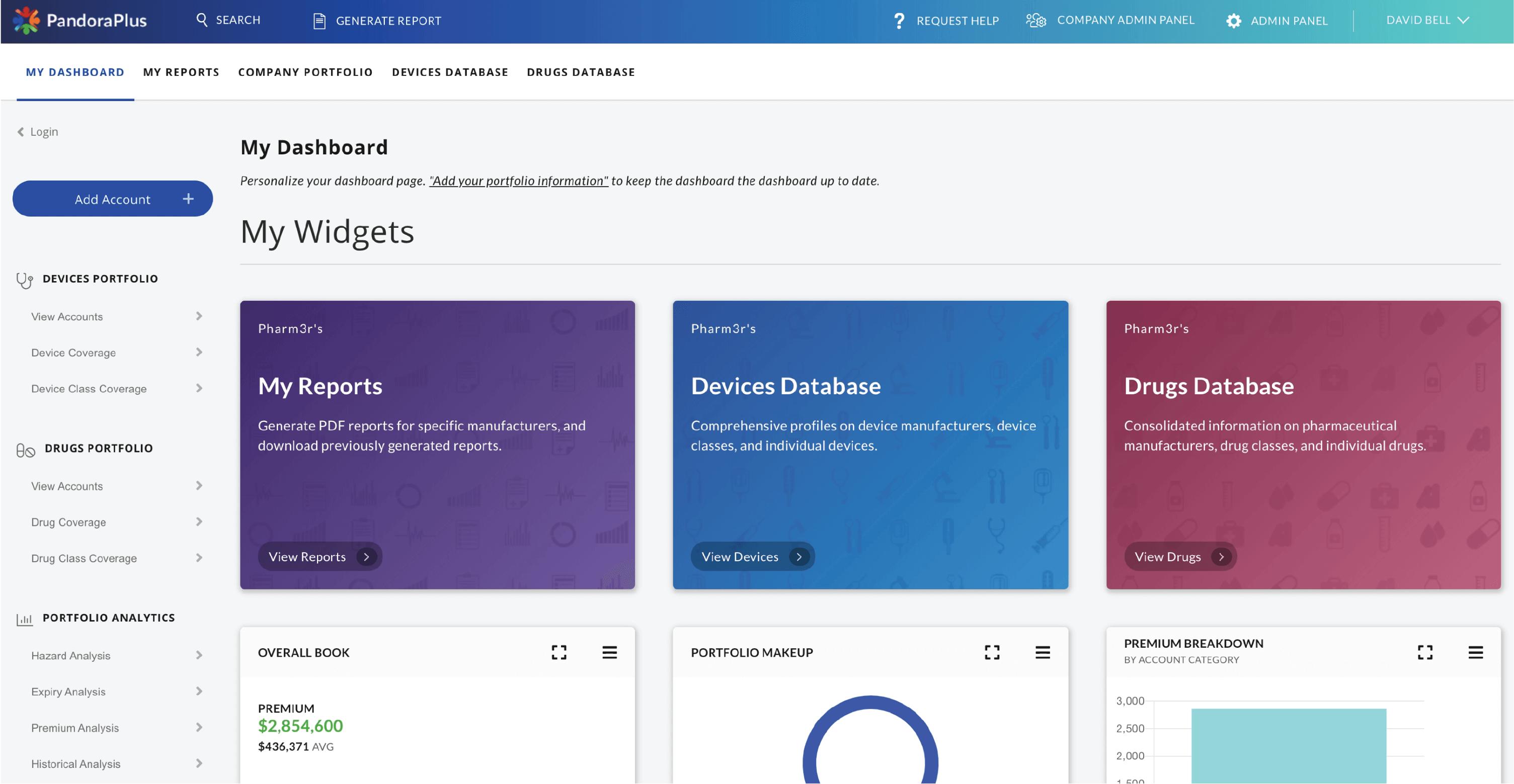 Pandora - portfolio aggregate risk